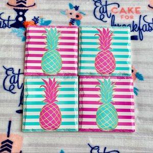 🍍 Ceramic Pineapple Coasters 🍍